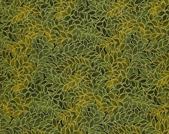 1/2 yd Honeystone Hill Metallic Leaf All Over Fabric by Blank Quilting M3795 Olive