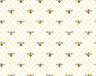 1/2 yd Summer Blooms Bee by Laura Ashley for Camelot Fabrics 71190205-2