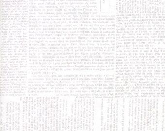 Compositions Newsprint Fabric // BasicGrey // Moda Fabrics 30451 12 by the HALF YARD