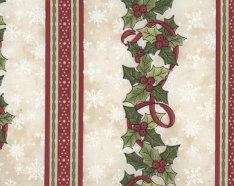 SALE Just Be Claus Holly Stripe Fabric by Robin Kingsley for Maywood Studio MAS8621X-E PER yard