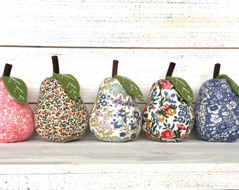 free shipping Liberty of London Fabric Pear Shaped Pincushion LIB04775