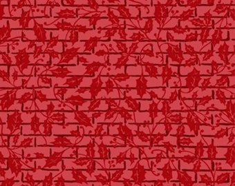 1/2 yd Winter Twist Tonal Grid by Jason Yenter for In The Beginning Fabrics 5WT-1 Red