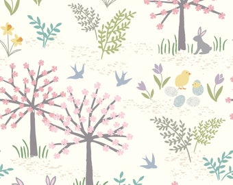 1/2 yd Salisbury Spring Forest by Lewis & Irene Fabrics LEIA205-1