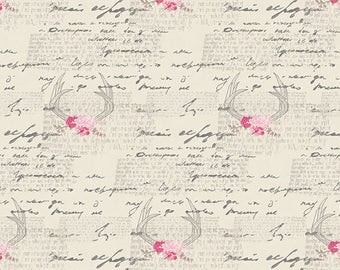 1/2 yd Vintage Chic Amorous Manuscript by Art Gallery Fabrics CAP-VC-5006