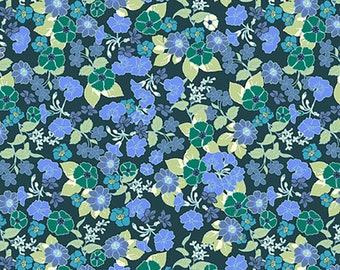 1/2 yd Garden Delights Flowers by Gray Sky Studio In The Beginning Fabrics 1GSE-2