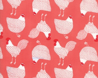 1/2 yd Farm Fresh Novelty Children Cluck by Gingiber for Moda Fabrics 48262 17