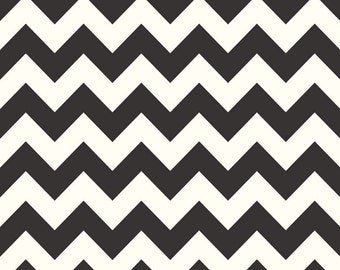 1/2 yd SALE Riley Blake Le Creme Medium Chevron Basic C640-110 Black