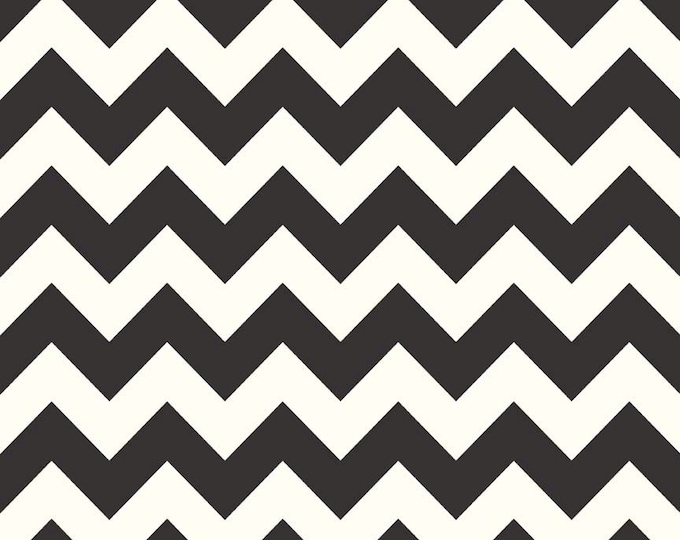 1/2 yd SALE Riley Blake Le Creme Medium Chevron Basic C640-110 Black