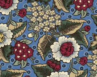 1/2 yd  Home Again Garden Fabric by Lynette Jensen for RJR Studios 2647-001 Blue/Multi