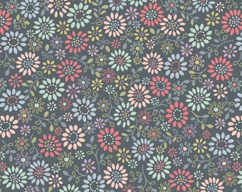 1/2 yd Flo's Little Flowers by Lewis & Irene Fabrics LEIFLO2-4