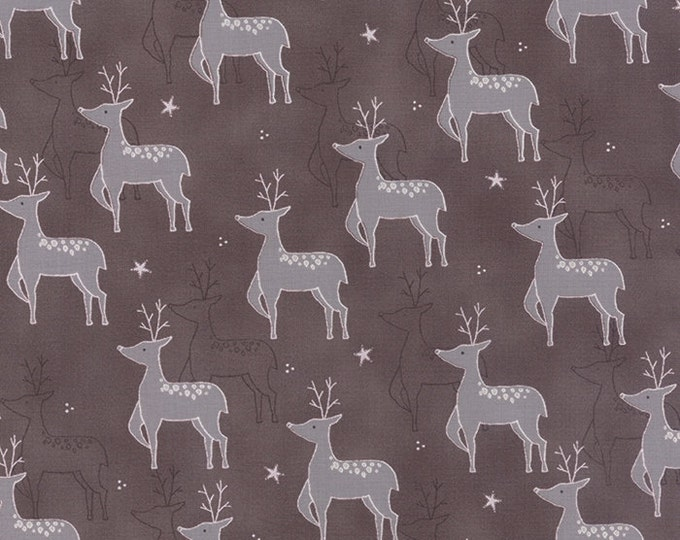 1/2 yd JOL Rudolf Kakao by Wenche Wolff Hatling of Northern Quilts for Moda Fabric 39700 17 Brown