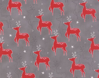 1/2 yd JOL Rudolf Grar by Wenche Wolff Hatling of Northern Quilts for Moda Fabric 39700 15