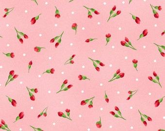 1/2 yd Chloe Little Buds Fabric by Maywood Studio MAS9184-P