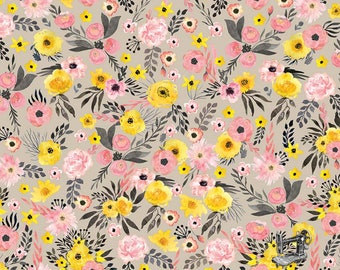 1/2 yd Petal Lane Main Floral Fabric by Bo Bunny for Riley Blake Designs C6920-TAUPE