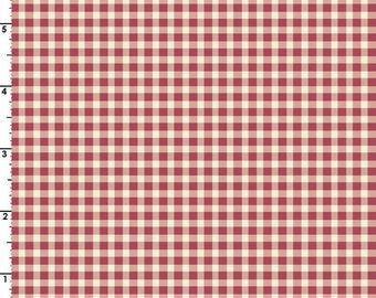Welcome Home Gingham Fabric // Maywood Studio MAS610-R4 Pink by the HALF YARD