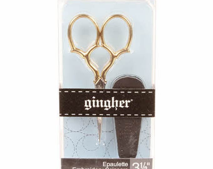 Gingher 3 1/2in Goldhandle Epaulette Embroidery Scissors 01-005279