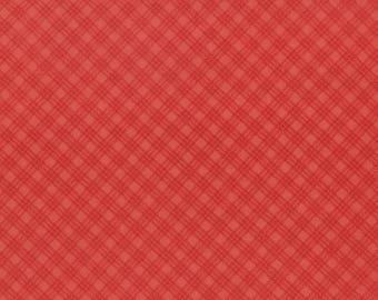 1/2 yd Snowfall Bias Plaid Poinsettia by Minick Simpson for Moda Fabrics 14837 22