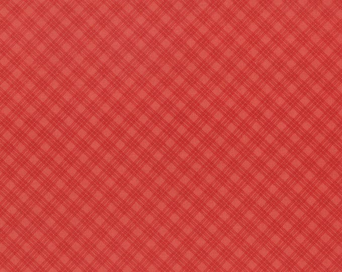 1/2 yd Snowfall Bias Plaid Poinsettia by Minick Simpson for Moda Fabrics 14837 22