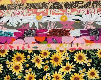 Collage Floral Pack // Kit // Remnants // Free Spirit // Art Gallery // Quilting Treasures // Windham  C