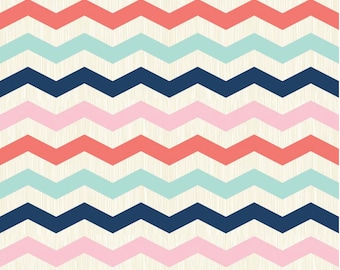 1/2 yd SALE Riley Blake Trendsetter Chevron Multi by Fancy Pants Designs C3992