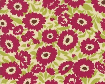 1/2 yd Lucky Day Lazy Daisy by MoMo for Moda Fabrics 33292 12 Berry