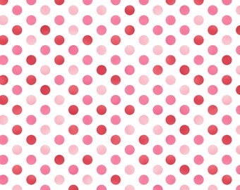 1/2 yd Sweet Pea Confetti Dots Flannel by Maywood Studio Fabric MASF8128-WR