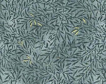 1/2 yd Guilded Greenery Leaves Fabric by Blank Quilting 3708-M