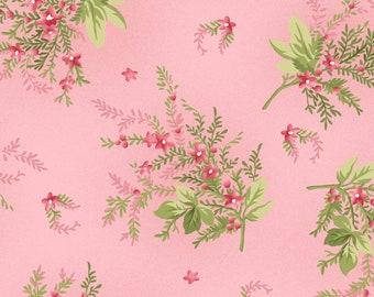 1/2 yd Heather Floral Sprigs Fabric by Jennifer Bosworth for Maywood Studio MAS8393-P