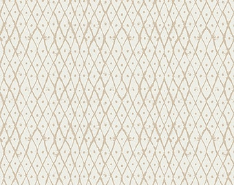 1/2 yd Wonderland Diamond Flush Gold by Art Gallery Fabrics WND-2534