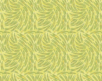 1/2 yd A Bird in Hand Heart by Laura Heine for FreeSpirit Fabrics PWLH011.ACIDG Acid Green