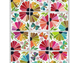 Garden Party Laser Cut Quilt Kit for Fiberworks Pattern by Laura Heine LHFWGP