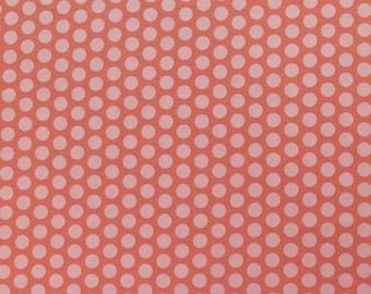 1/2 yd Adornit Grid Polka Dot Coral T-00372