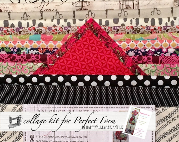 Perfect Form Fabric Collage Quilt Kit for Laura Heine's Collage Pattern FBWPF