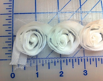 Organza Ribbon Roses by Kaisercraft R705 White