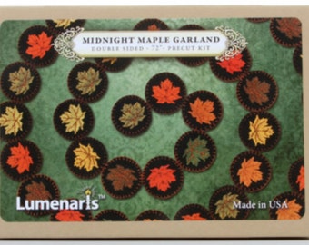 Lumenaris Wool Felt Kit Midnight Maple Leaves Garland 72in #203202DLUM