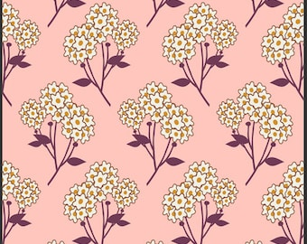 SALE Sunkissed Summerlove Tokens of Love Fabric by Sara Lawson for Art Gallery Fabrics SML 103 Pink PER yard