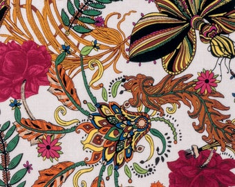 1/2 yd Studio KM Persia Waldorf Botanica Free Spirit Fabrics PWKM022.BOTAN