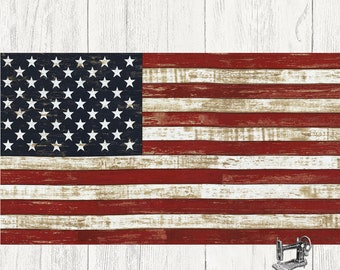 "American Flag 24"" Panel by Timeless Treasures Fabric C5278-FLAG"