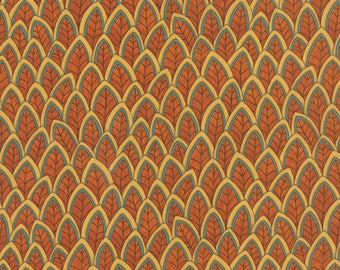 1/2 yd Forest Fancy Harvest Fanciful Feathers by Deb Strain for Moda Fabrics 19712 11