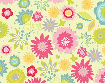 1/2 yd Sunday Ride Serendipity Floral by Contempo for Benartex Fabrics 10081 40