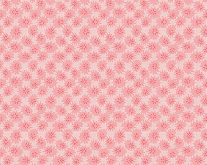 1/2 yd Linen & Lawn Pink Daisy by Sue Daley for Penny Rose and Riley Blake Designs Fabric LW6342-PINK