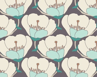 1/2 yd Winged Nesting Blooms by Bonnie Christine for Art Gallery Fabrics WNG-1025 Cool