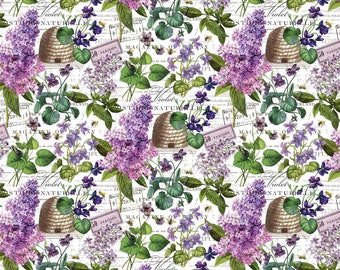 "REMNANT 12"" Chelsea Feature Floral Fabric // Michel Design Works // Northcott Studio"
