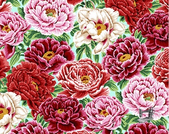 1/2 yd English Garden Peonies Spring by Snow Leopard Designs for Free Spirit Fabrics  PWSL053.SPRIN