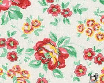 SALE Love & Friendship Garden Fabric // FreeSpirit PWVM173.CLOUD by the YARD