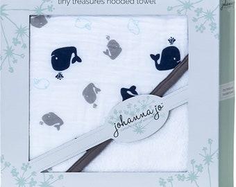 free shipping Whales Hooded Terry Towel Johanna Jo Shannon Fabrics FP-SHATYT-WHALES