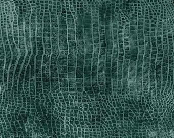 Tim Holtz Worn Croc Fabric // FreeSpirit PWTH020.EVERGLADES by the Half Yard