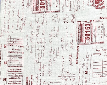 """60"""" Linen La Couture Tickets & Writing Fabric // STOF of Denmark by the HALF YARD"""