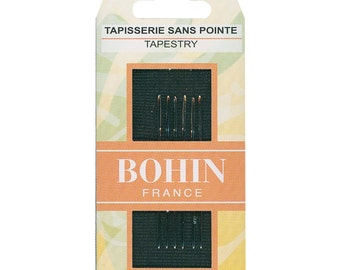 Tapestry Hand Sewing Needles Size 24 by Bohin France BOF00836