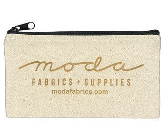 Moda Logo Canvas Zipper Pencil Notion Bag FFML Fanatical Fusion